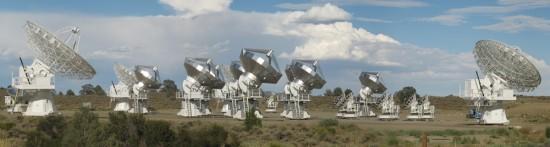 Radioteleskopy CARMA. Zdroj: Wikipeda
