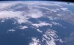 Modrá planeta Země z ISS...