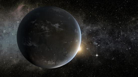 Kepler-62 f v představách malíře. Credit: NASA