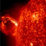 Únik koronální hmoty (CME) dne1. Května 2013. Credit: NASA