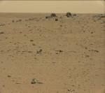 Curiosity je už téměř rok na Marsu. Credit: NASA
