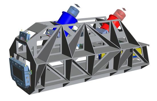 ESPRESSO včetně dvou kamer pro modrou a červenou část spektra. Credit: ESO, ESPRESSO Consortium