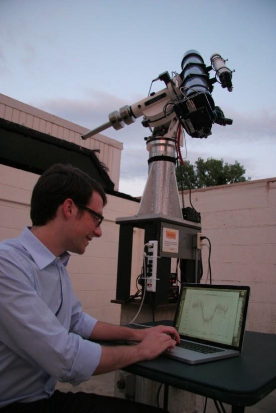 Brett Morris - hlavní vývojář programu OSCAAR, redit: Elizabeth Warner/University of Maryland