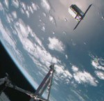 Cygnus u ISS. Credit: NASA TV