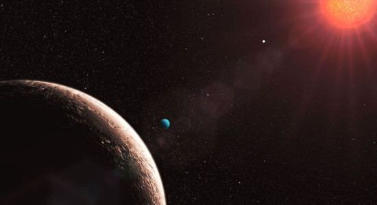 Planeta u červeného trpaslíka, credit: ESO/L. Calçada