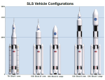 Verze rakety SLS, credit: NASA