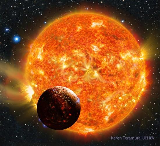 Kepler-78 v představách malíře.