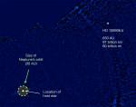 HD 106906 b na snímku z Magellanova dalekohledu, credit: Vanessa Bailey