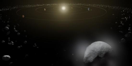 Ceres v hlavním pásu planetek. Credit: ESA/ATG medialab