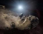 Asteroid poblíž pulsaru, Credit: NASA/JPL-Caltech