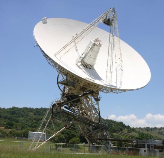 Radioteleskop HartRAO v JAR, zdroj: Wikipedia