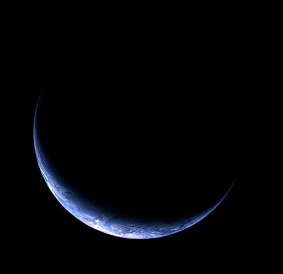 Země ze sondy Rosetta ještě jednou, tentokrát z 13. listopadu 2009.