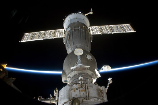 Soyuz Spacecraft docked to the ISS during Joint Operations