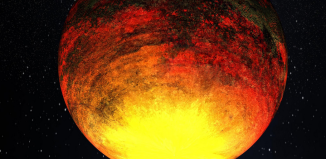 Exoplaneta s krátkou oběžnou dobou v představách malíře. Credit: NASA