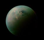 Saturnův měsíc Titan, credit: NASA
