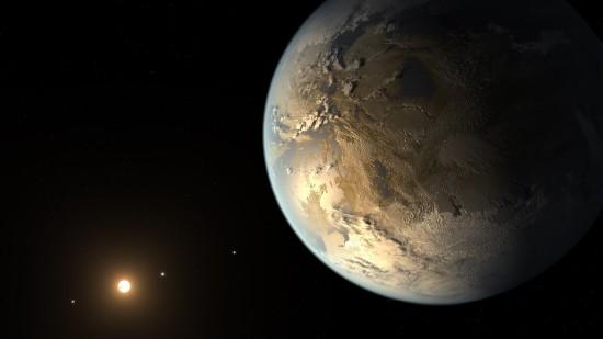 Kepler-186 v představách malíře. Credit: NASA