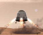 Přistávací modul od firmy SpaceX. Zdroj: Wikipedia