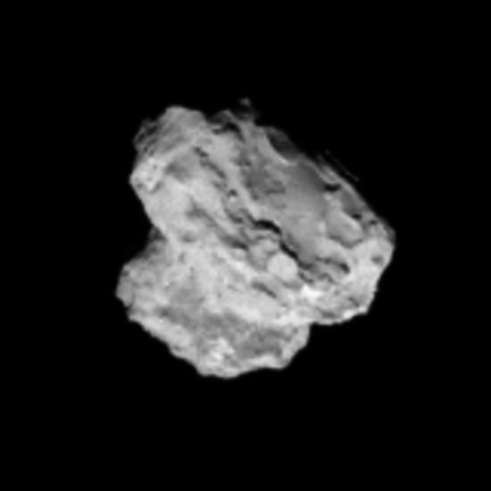 67P/Churyumov-Gerasimenko, Rosetta v roce 2014. Velikost cca 4x3 km