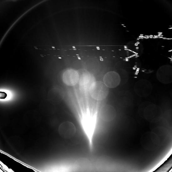 Sonda Rosetta z modulu Philae. Credit: ESA