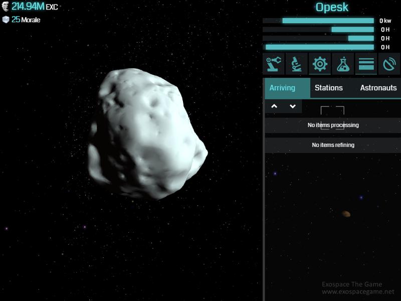 Management těžby z asteroidu