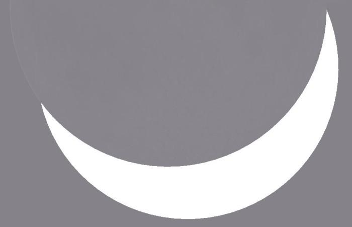 Takhle bude u nás vypadat sluneční kotouč v maximu. Zdroj: Stellarium