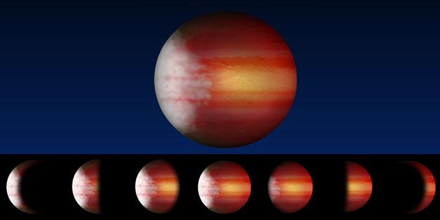Fáze exoplanety, foto: Lisa Esteves, University of Toronto