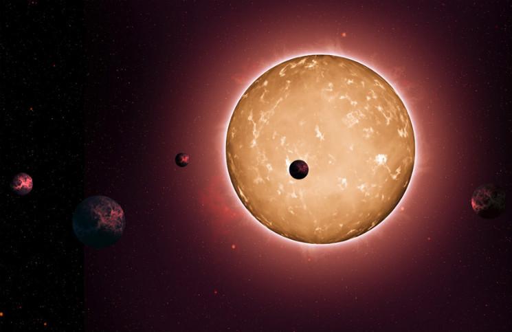 Planetární systém v představách malíře. Credit: NASA