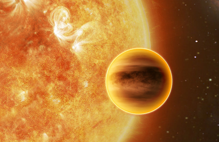 Tranzit horkého jupiteru, credit: ATG medialab, ESA