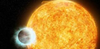 Horký jupiter v představách malíře. Credit: NASA