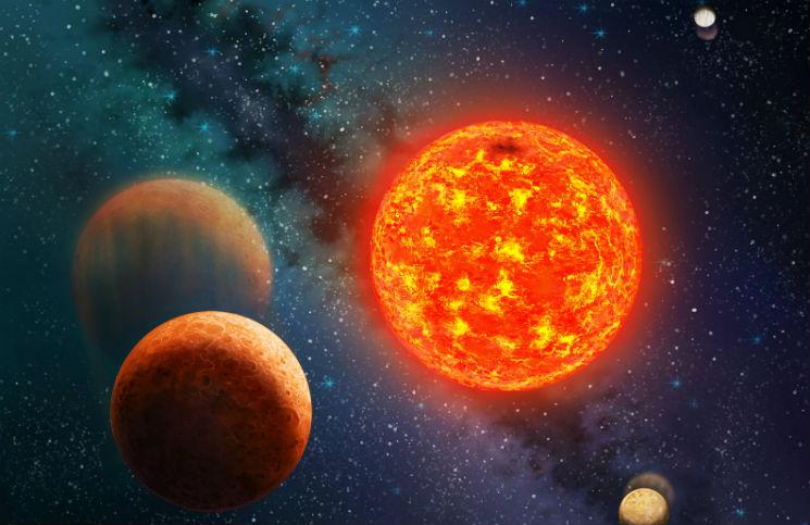 Kepler-138 v představách malíře. Credit: Danielle Futselaar, SETI Institute