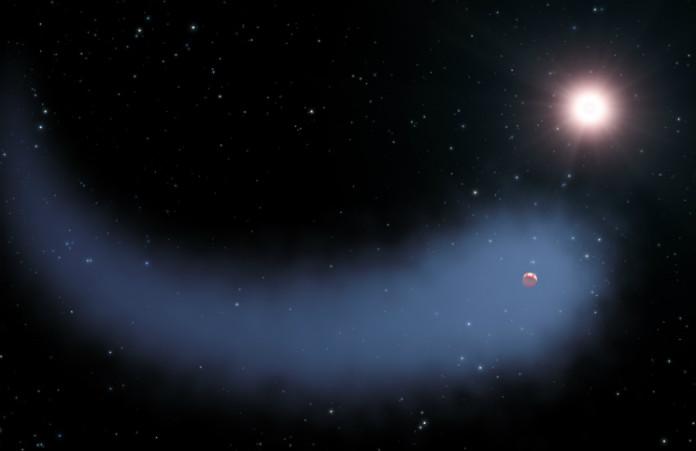 Gliese 436 b v představách malíře. Credit: NASA, ESA, and G. Bacon (STScI)