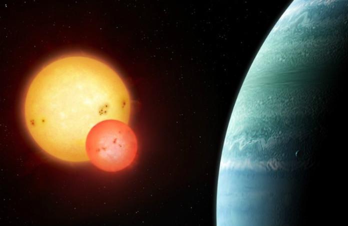 Kepler-453b (kresba), credit: Mark Garlick, markgarlick.com
