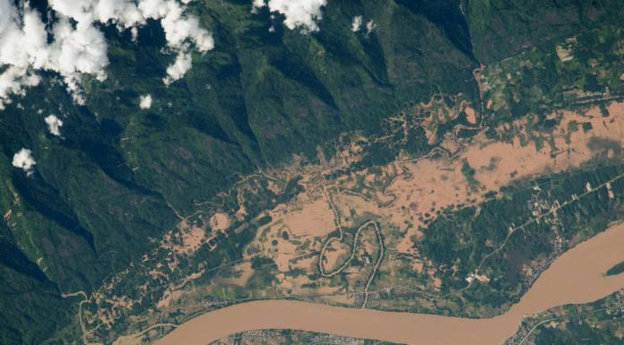 Záplavy na řece Mekong v Thajsku a Laosu