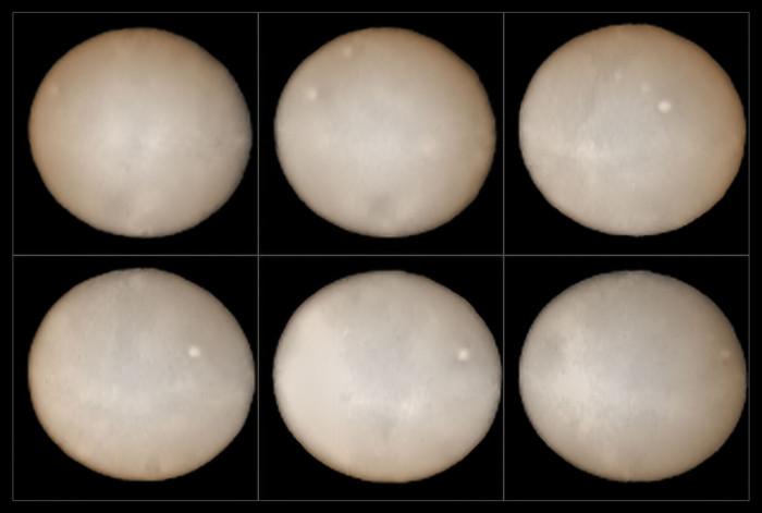 Snímky ze SPHERE (VLT) v průběhu dvou týdnů. Credit: ESO, B. Yang and Z. Wahhaj