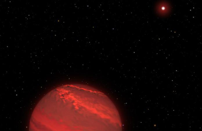 2M1207b v představách malíře. Credits: NASA, ESA, and G. Bacon/STScI