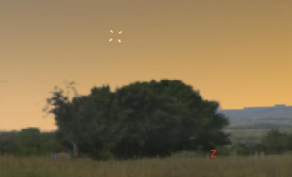 Pozice planet nad západním obzorem. Zdroj: Stellarium