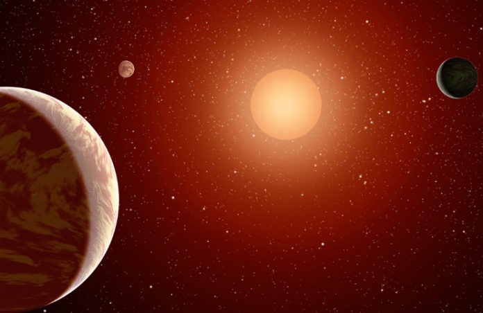 TRAPPIST-1 v představách malíře. Credit: NASA