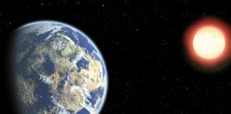 Exoplaneta u červeného trpaslíka. Credit: CfA