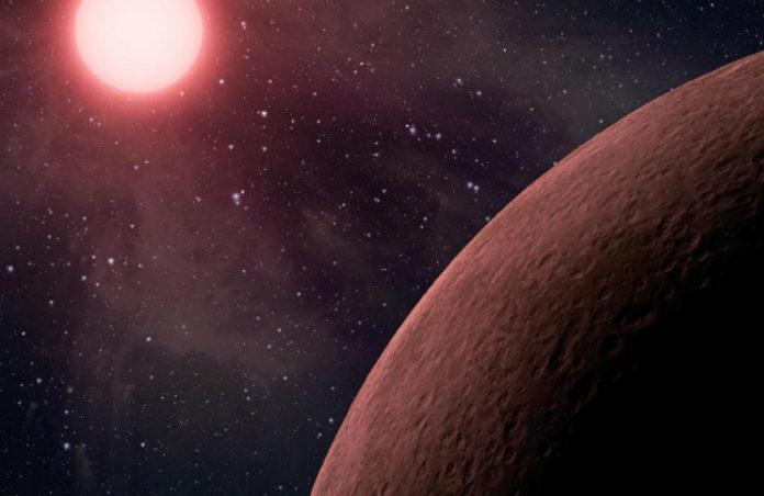 Exoplaneta u červeného trpaslíka, credit: NASA