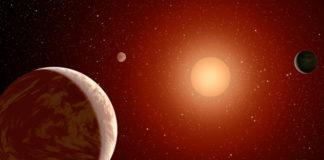 Kamenné exoplanety u červeného trpaslíka. Credit: NASA