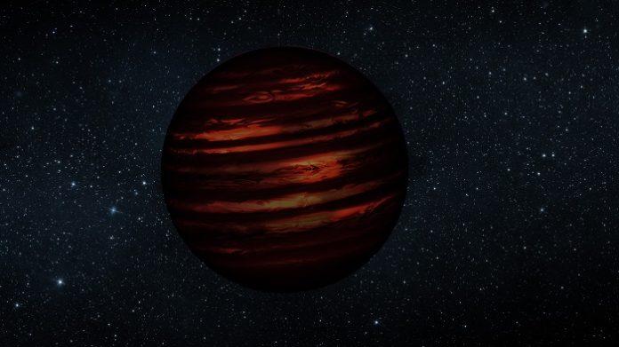 Hnědý trpaslík. Credit: NASA/JPL, slightly modified by Jonathan Gagné.