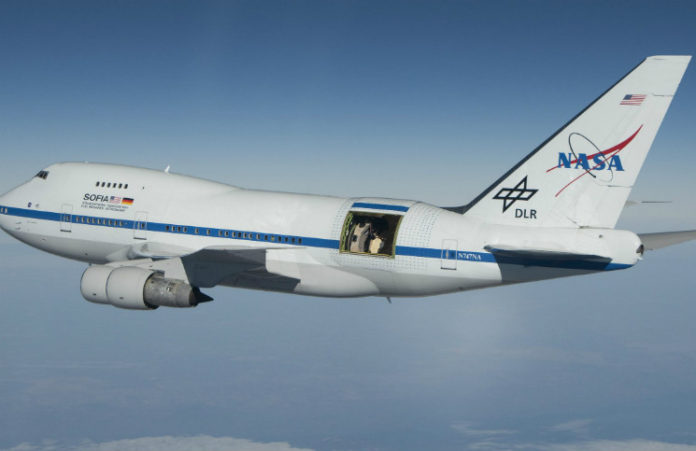 SOFIA, credit: NASA photo / Jim Ross