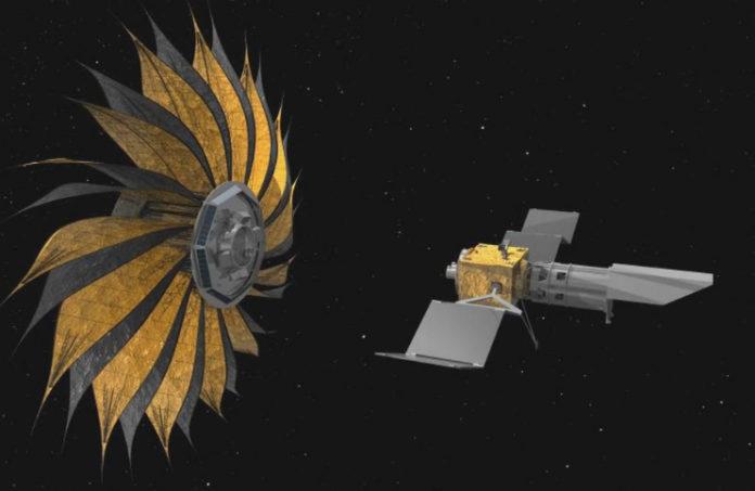 Starshade a dalekohled. Credit: NASA, JPL