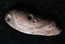 Možný vzhled 2014 MU69. Credits: NASA/JHUAPL/SwRI/Alex Parker