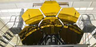 Zrcadla JWST. Credit: NASA