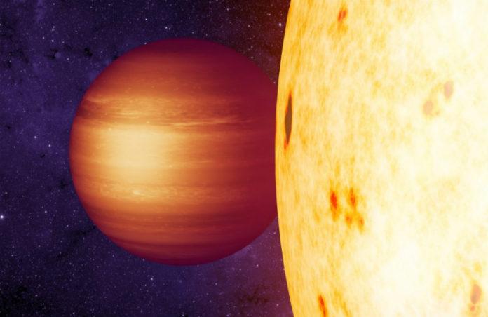 Horký jupiter, credit: NASA/JPL-Caltech/T. Pyle (IPAC)