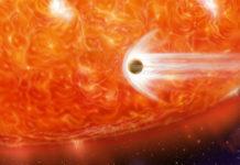 Exoplaneta u obří hvězdy. Credit: NASA