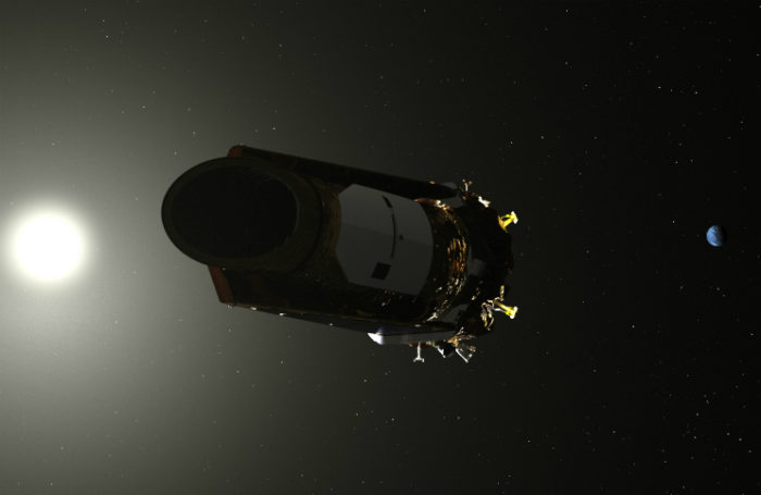 Kosmický dalekohled Kepler. Credit: NASA
