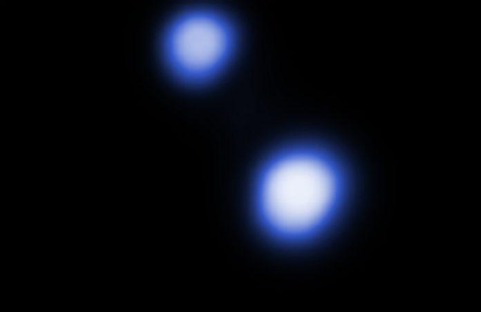 Alfa Centauri A, B na snímku z kosmického dalekohledu Chandra. Credit: NASA/CXC/University of Colorado/T.Ayres