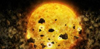 Srážka planet. credit: NASA/CXC/M.Weiss